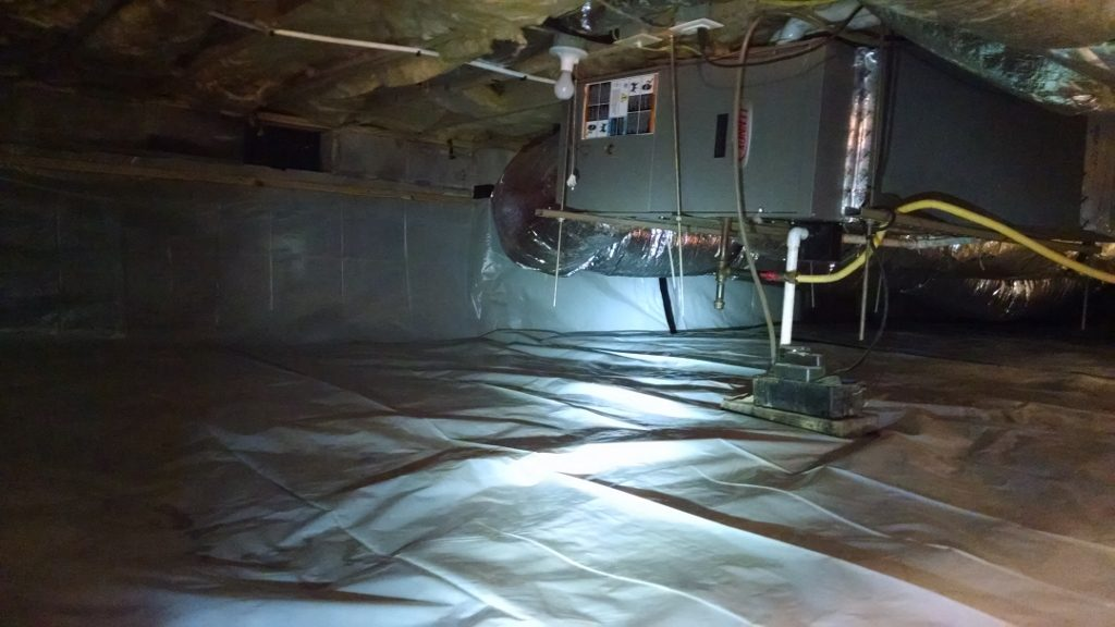 Vapor Barrier Added to Crawl Space